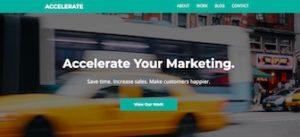 Accelerate Marketing, a WordPress site